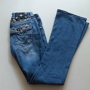 Miss me size 26 bootleg embellished jeans